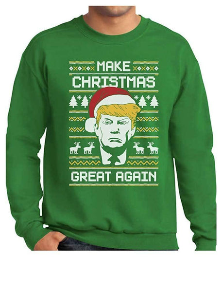 The Donald Trump Ugly Sweater Make Christmas Great Again Christmas Sweatshirt - Trumpshop.net