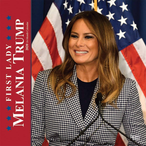 First Lady Melania Trump 2020 12 x 12 Inch Monthly Square Wall Calendar - Trumpshop.net