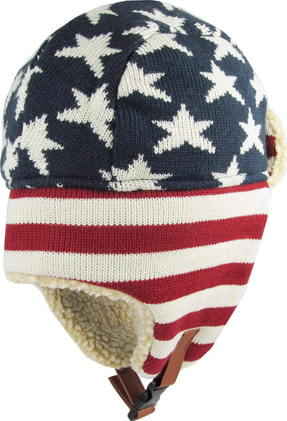 Unisex Flag Winter Trooper Hat - Ear Flap Chin Strap and Windproof Mask - Trumpshop.net