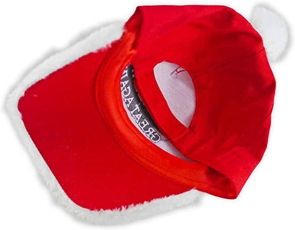 Santa Baseball Cap with 'Make Christmas Great Again' Embroidery Christmas Hat - Trumpshop.net
