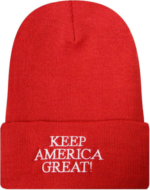 Keep America Great Donald Trump Knit Beanie - RED