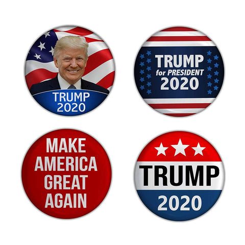 2.25in President Trump 2020 Campaign Buttons Pack of 4 - Trumpshop.net