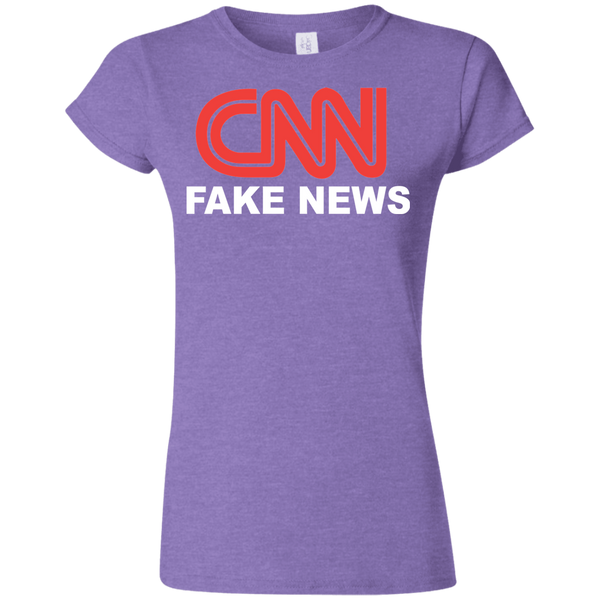 CNN Fake News Softstyle Ladies' T-Shirt - Trumpshop.net