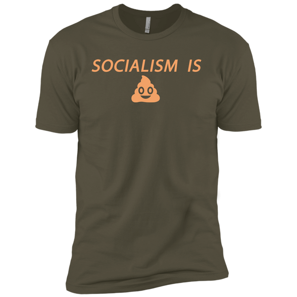 Socialism is Poop Premium Short Sleeve T-Shirt - Trumpshop.net