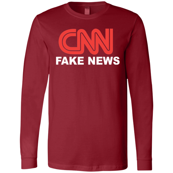 CNN Fake News Men's Jersey LS T-Shirt - Trumpshop.net