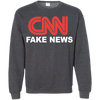 CNN Fake News Crewneck Pullover Sweatshirt  8 oz.