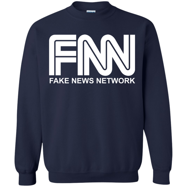 Fake News Network Crewneck Pullover Sweatshirt  8 oz. - Trumpshop.net