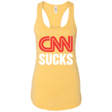 CNN Sucks Ladies Ideal Racerback Tank - Trumpshop.net