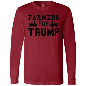 Farmers for Trump Men's Jersey LS T-Shirt