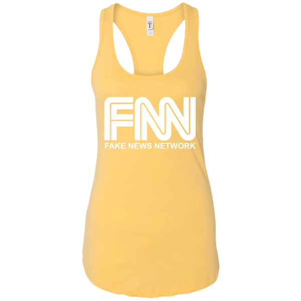 Fake News Network Ladies Ideal Racerback Tank - Trumpshop.net