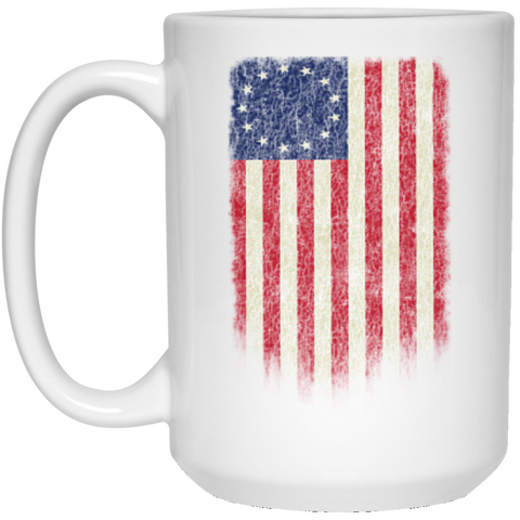 Betsy Ross Flag 13 Colonies White Mug
