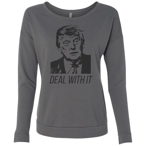 Trump Deal With It Ladies' French Terry Scoop - Trumpshop.net