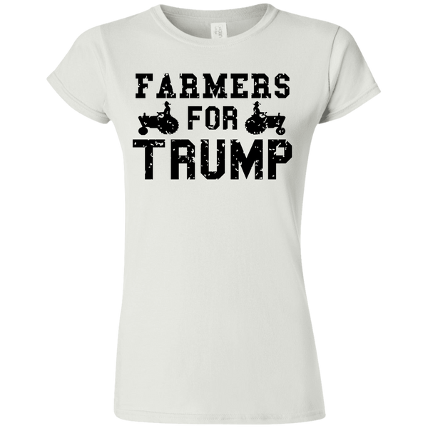 Farmers for Trump Softstyle Ladies' T-Shirt - Trumpshop.net