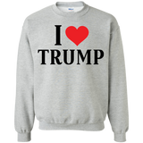 I Love Trump Pullover Sweatshirt  8 oz. - Trumpshop.net
