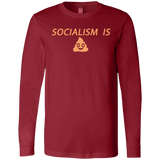 Socialism is Poop Men's Jersey LS T-Shirt - Trumpshop.net