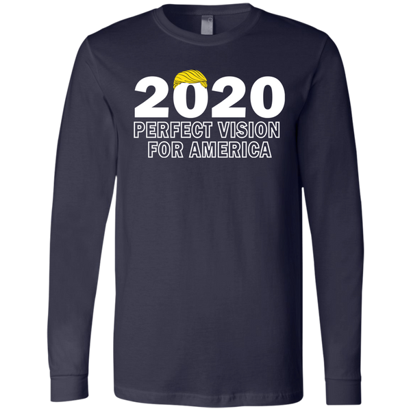 2020 Perfect Vision Trump Men's Jersey LS T-Shirt - Trumpshop.net