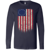 Betsy Ross Flag 13 Colonies Men's Jersey LS T-Shirt