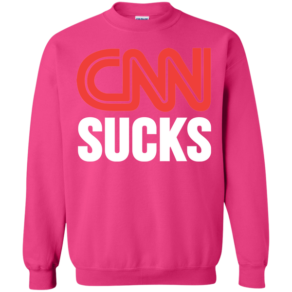 CNN Sucks Crewneck Pullover Sweatshirt  8 oz. - Trumpshop.net