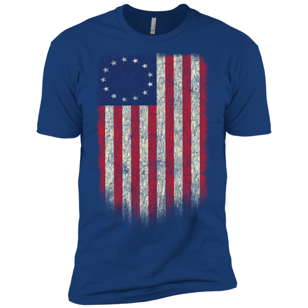 Betsy Ross Flag 13 Colonies Premium Short Sleeve T-Shirt - Trumpshop.net