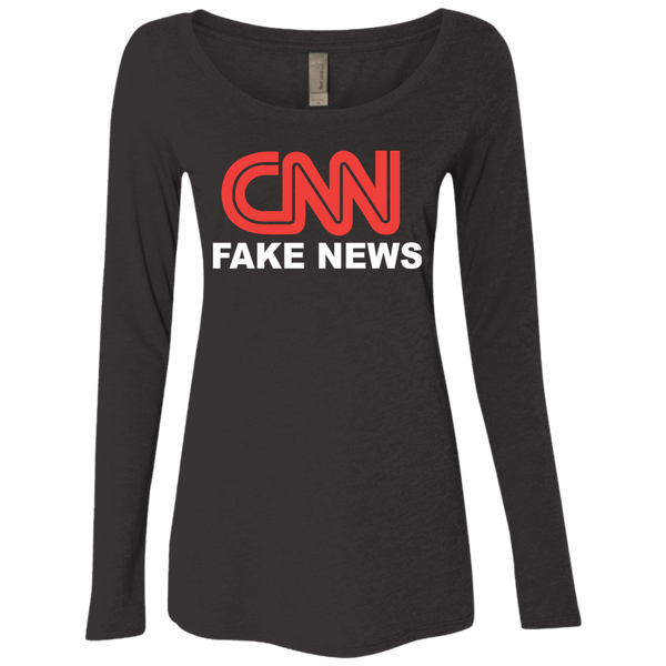 CNN Fake News Ladies' Triblend Scoop - Trumpshop.net