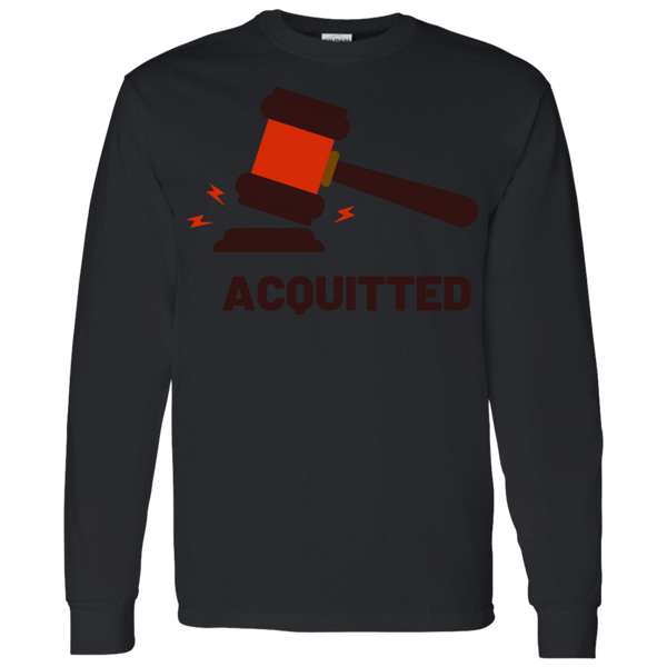 Acquitted Gavel (Red) Long Sleeve T-Shirt - Trumpshop.net