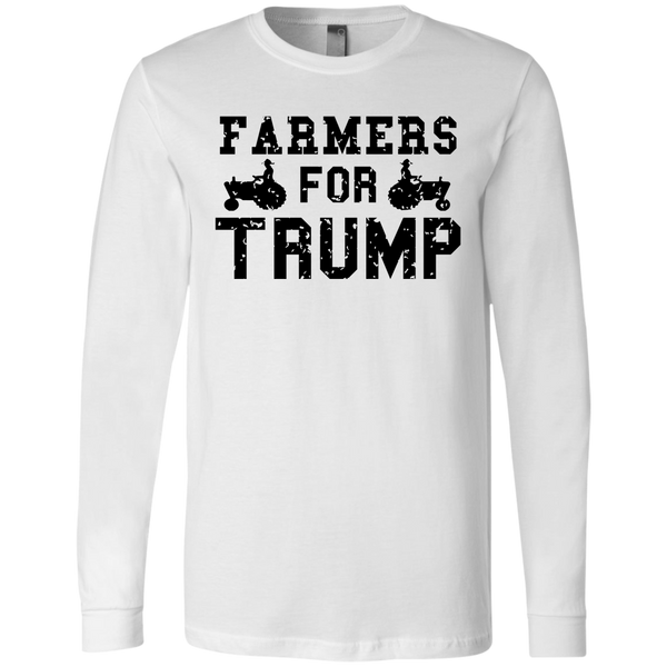 Farmers for Trump Men's Jersey LS T-Shirt - Trumpshop.net