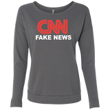 CNN Fake News Level Ladies' French Terry Scoop - Trumpshop.net