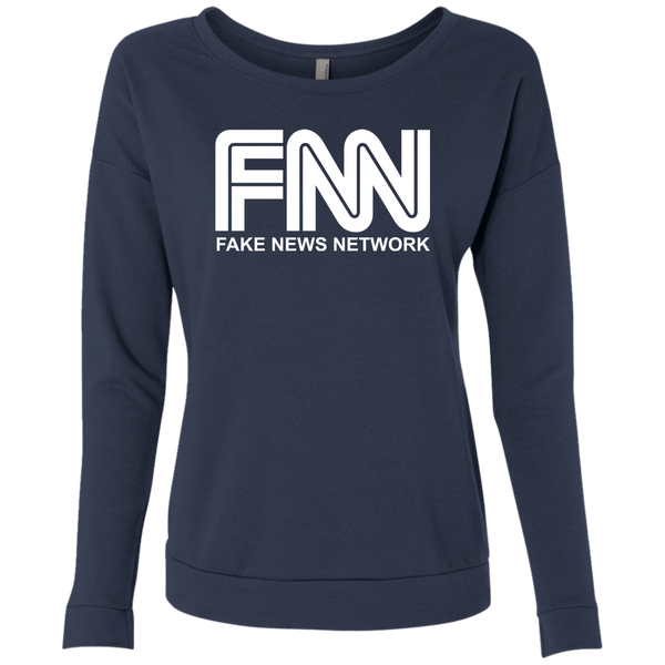 Fake News Network Ladies' French Terry Scoop - Trumpshop.net