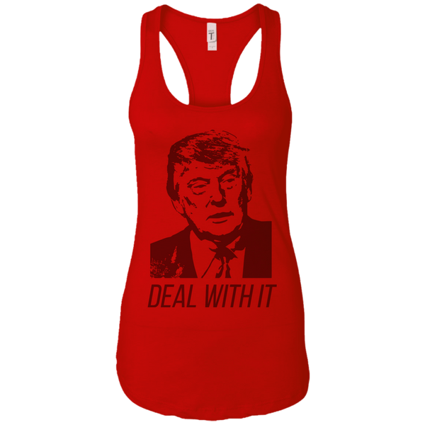 Trump Deal With It Ladies Ideal Racerback Tank - Trumpshop.net