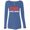 CNN Fake News Ladies' Triblend Scoop