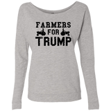 Farmers for Trump Ladies' French Terry Scoop - Trumpshop.net