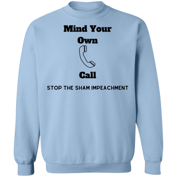 Stop Impeachment Crewneck Pullover Sweatshirt  8 oz. - Trumpshop.net