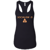 Socialism is Poop Ladies Ideal Racerback Tank
