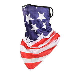Made in USA Cooling USA Flag Neck Gaiter with Ear Loop