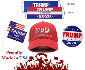 Trump 2020 Campaign Rally 5 Piece Pack - Proudly Made in USA