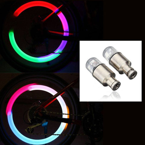 Cycling - Firefly Motion-Activated Colorful LED Neon Spoke Lights (2 Pcs)