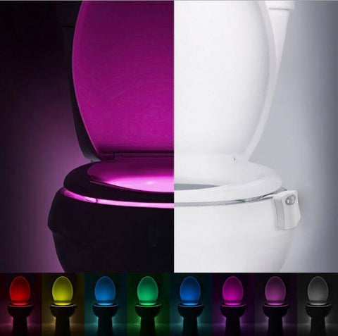 Night Lights - Automatic Toilet Bowl Seat Colorful LED Light With Motion Detected Sensor