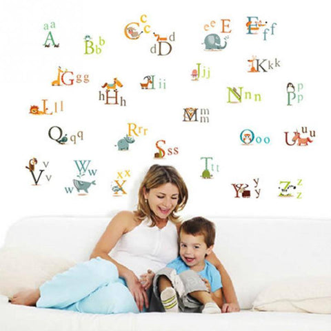 Wall Decals - Animal Alphabet Wall Decals