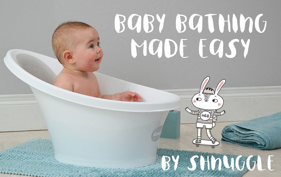 Baby in baby bath by Shnuggle