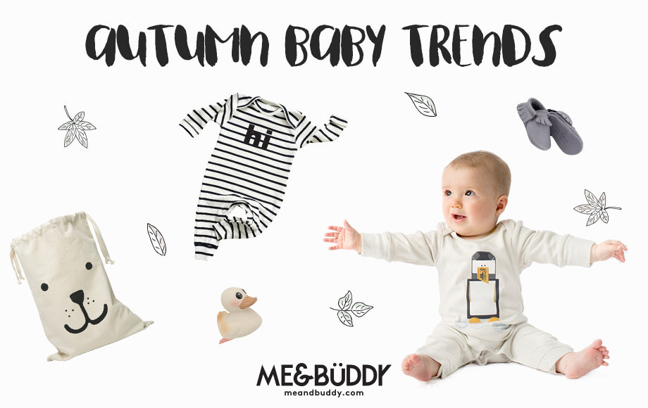 picture of baby surrounded by items from Autumn Baby Trends