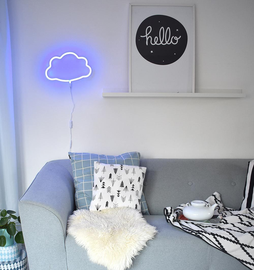 Buy the A Little Lovely Co Blue Cloud Neon Style Light by A LITTLE LOVELY COMPANY from Me and Buddy