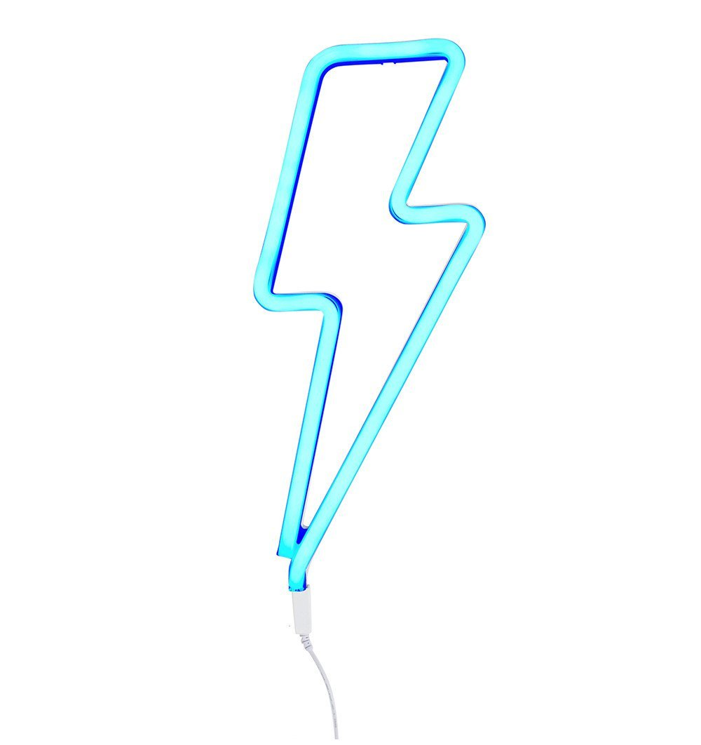 Buy the A Little Lovely Co Blue Lightning Neon Style Light by A LITTLE LOVELY COMPANY from Me and Buddy