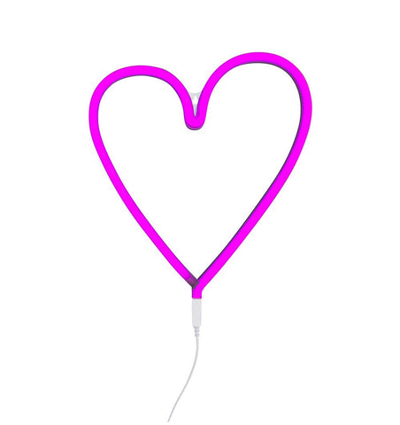 Buy the A Little Lovely Co Pink Heart Neon Style Light by A LITTLE LOVELY COMPANY from Me and Buddy