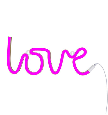 Buy the A Little Lovely Co Pink Love Neon Style Light by A LITTLE LOVELY COMPANY from Me and Buddy