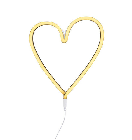 Buy the A Little Lovely Co Yellow Heart Neon Style Light by A LITTLE LOVELY COMPANY from Me and Buddy