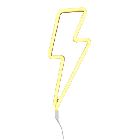Buy the A Little Lovely Co Yellow Lightning Neon Style Light by A LITTLE LOVELY COMPANY from Me and Buddy