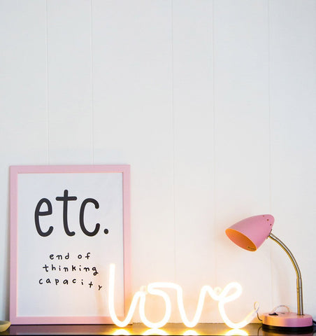 Buy the A Little Lovely Co Yellow Love Neon Style Light by A LITTLE LOVELY COMPANY from Me and Buddy