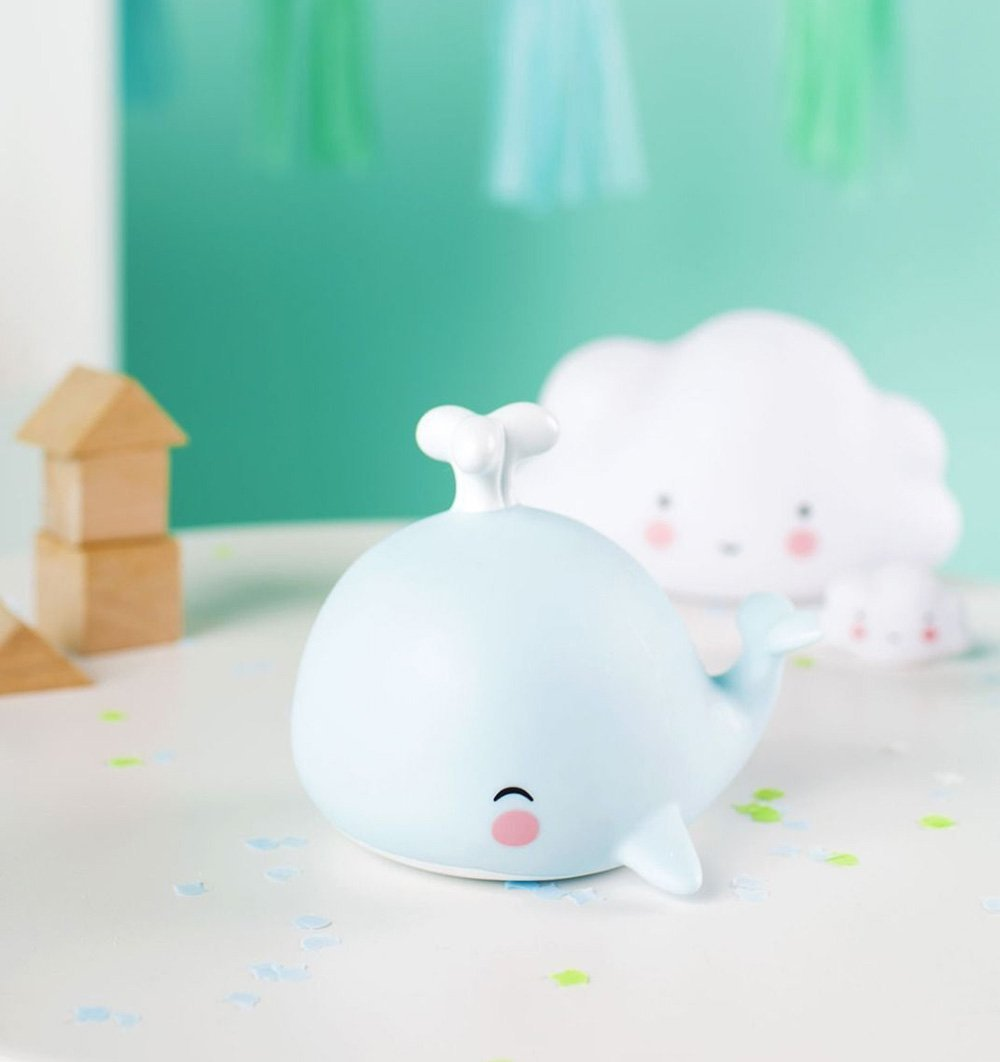 A LITTLE LOVELY COMPANY Nursery light A Little Lovely Co Mini Whale Light