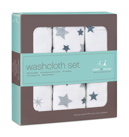 Buy the aden + anais Twinkle Washcloth Set 3-Pack by ADEN + ANAIS from Me and Buddy
