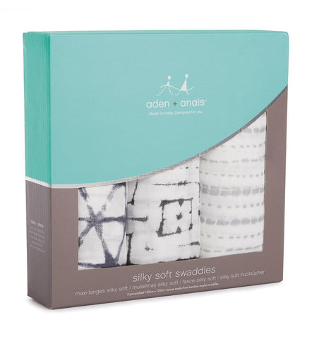 Buy the aden + anais Pebble Shibori Silky Soft Swaddle 3-Pack by ADEN + ANAIS from Me and Buddy